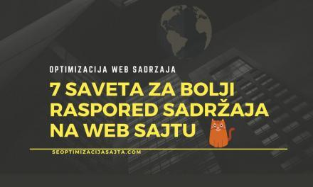 Optimalan raspored elemenata na web stranici