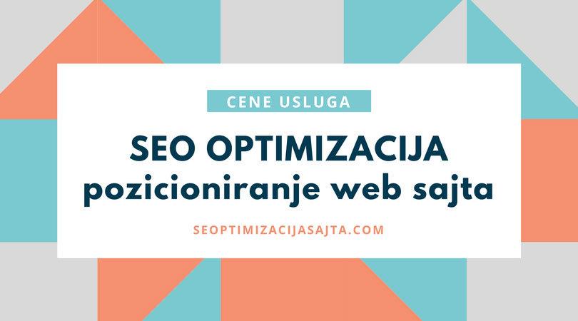 cena seo optimizacije sajta