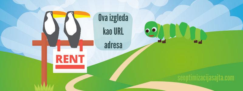 Kako se radi seo optimizacija url adresa - web adresa kao gusenica