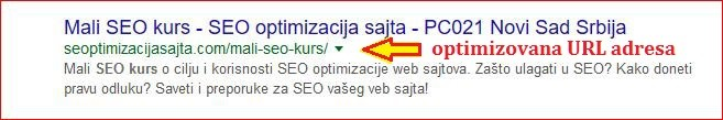 Kako se radi seo optimizacija url - primer