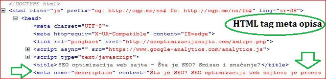 meta opis html code