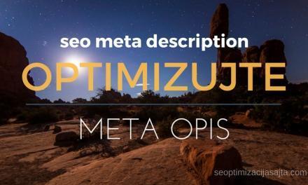 SEO optimizacija meta opisa