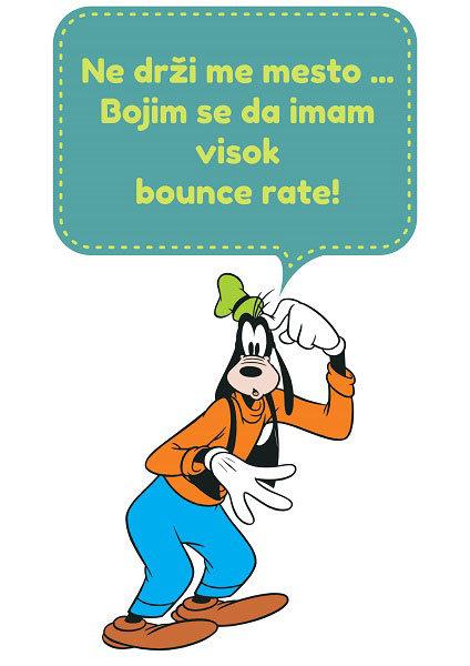 Šta je to bounce rate - ne drži me mesto