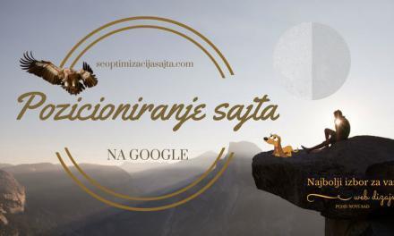 Pozicioniranje sajta na Google