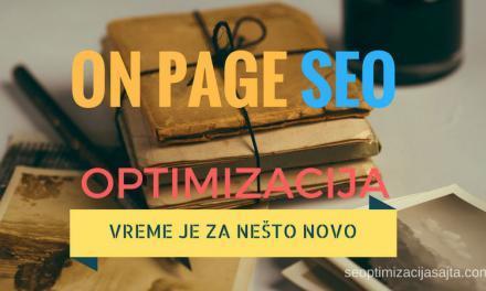 On page SEO optimizacija sajta [20 pravila]