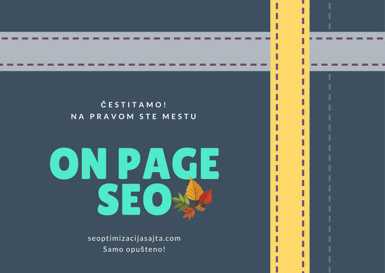 on page seo optimizacija - na pravom ste mestu