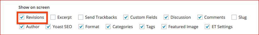 optimizacija wordpress sajta - podesavanje ekrana