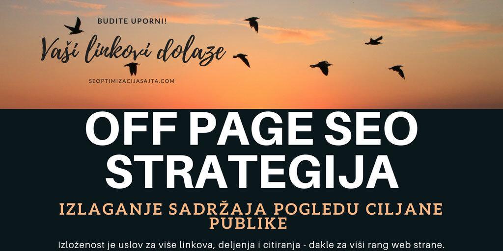 off page seo optimizacija sajta - izlozenost publici