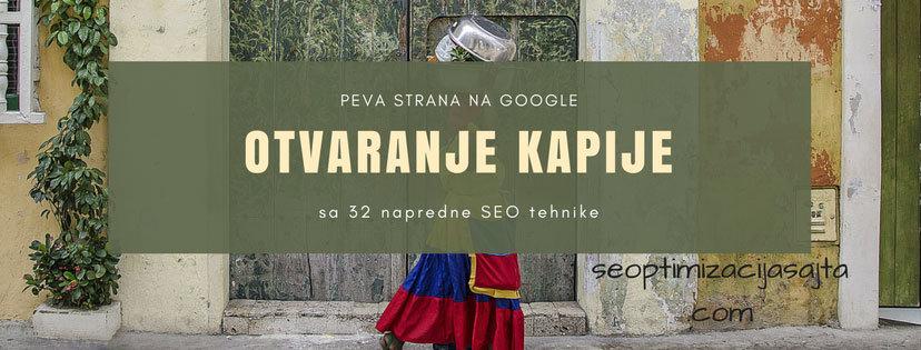 prva strana na google - otvaranje kapije