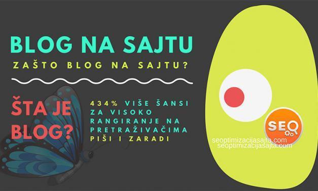 Zašto blog na sajtu?