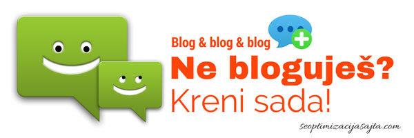 Blog na sajtu - blogujte