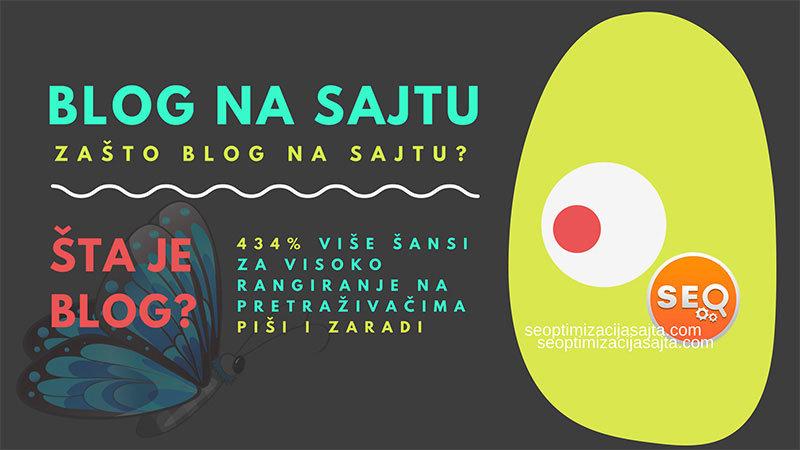 blog na sajtu - kako i zašto