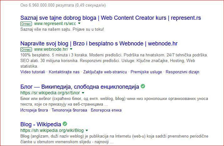 blog - wikipedia