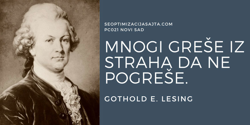 pad sajta - mnogi greše - izreka Gothold E. Lesing
