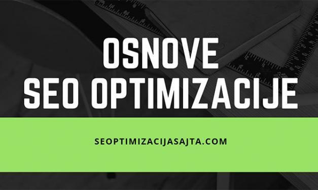 Osnove SEO optimizacije sajta