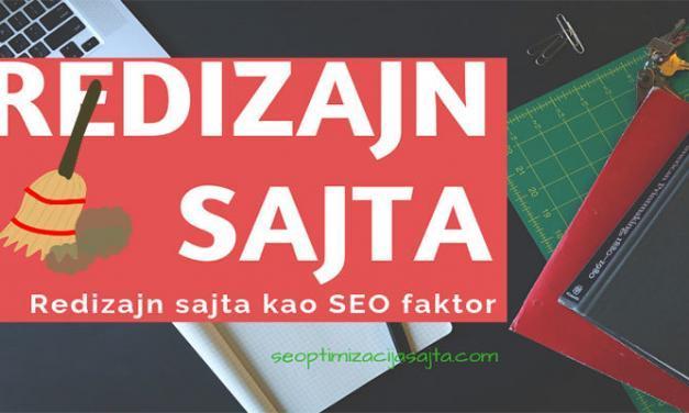 Redizajn sajta kao SEO faktor