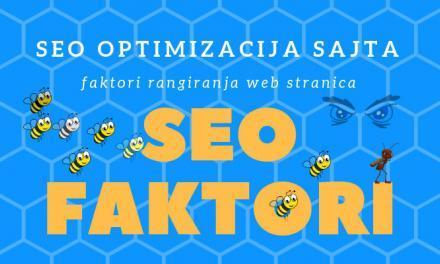 SEO faktori rangiranja web stranica