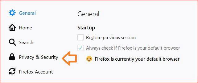 Šta su kolačići na sajtu - Firefox podešavanja-2