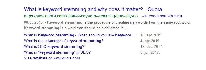 keyword stemming - quora