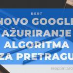 Google algoritam ažuriranje BERT
