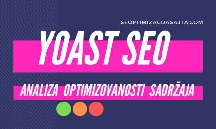 Yoast SEO analiza sajta