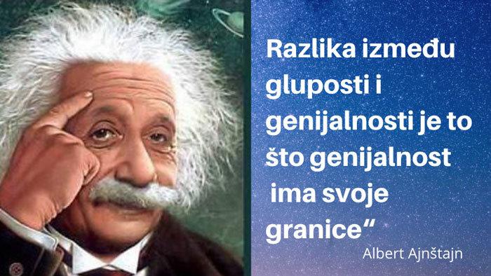 glupost - genijalnost - razlika
