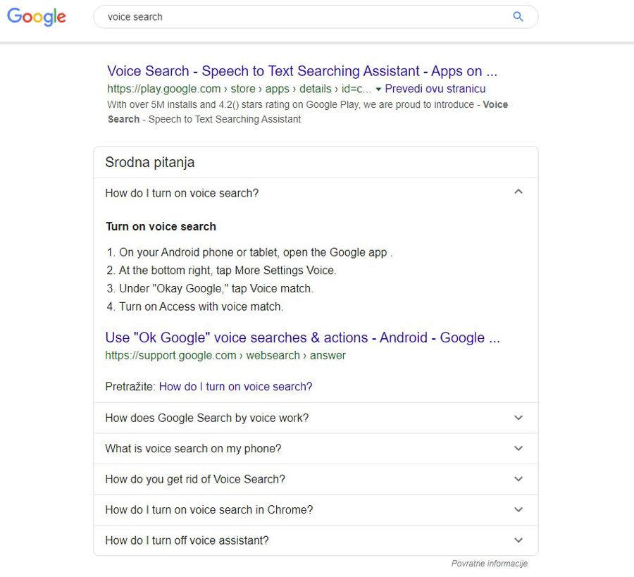 SEO trendovi 2020. Glasovna pretraga i odgovori