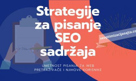 Strategije za pisanje SEO sadržaja