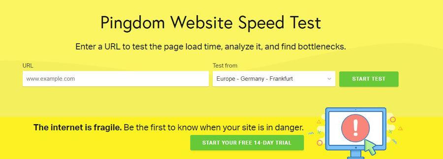 seo prodajne internet stranice - test brzine