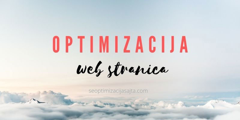 Optimizacija web stranica